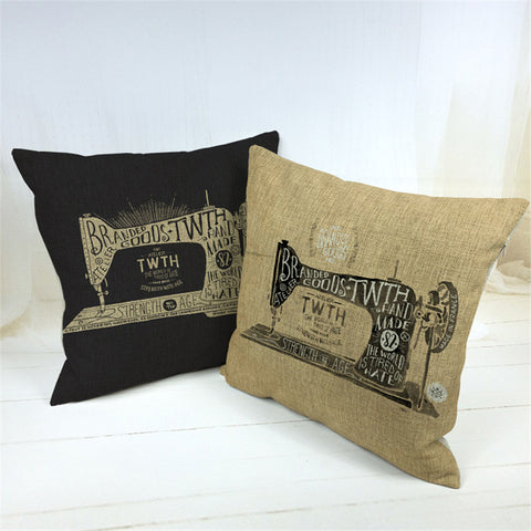 Vintage Decorative Sewing Machine Pillow