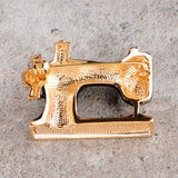 Beautiful Sewing Machine Brooch