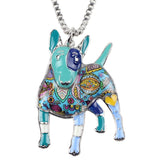 Cute Bull Terrier Multicolor Necklace