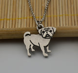 Silver Pug Necklace
