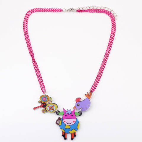 A Beautiful Multicolor COW Necklace