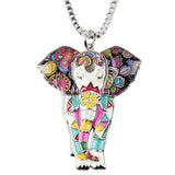 Cute Elephant Mutlicolor Necklace