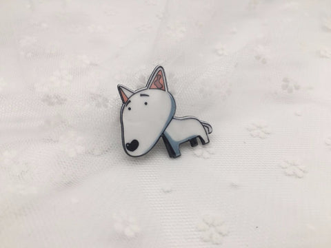 Cute Cartoon Bull Terrier Pin