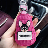 Cute Chihuahua key chain holder