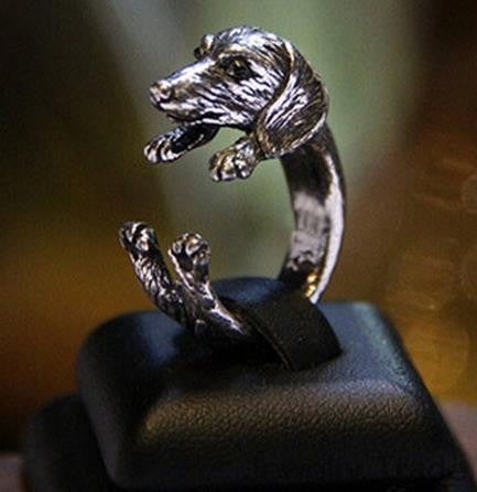 Dachshund Dog Ring Fine Jewelry + Free shipping