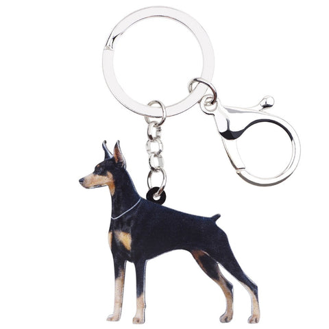 Beautiful Doberman Keychain