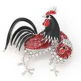 Beautiful Colorful Chicken Brooch