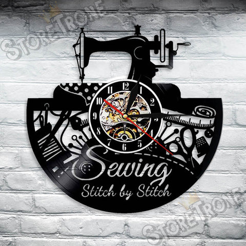 Sewing Stitch by Stitch Wall Clock