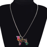 Cute Schnauzer Multicolor Necklace