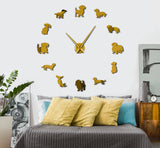 Dachshund Frameless DIY Wall Clock