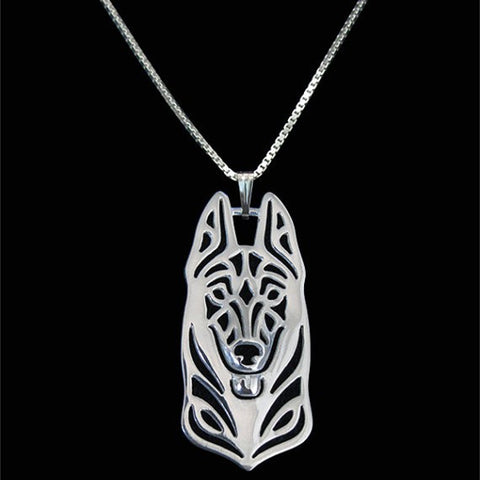 Cute German shepherd Necklace Silver/gold
