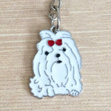Adorable Maltese key ring