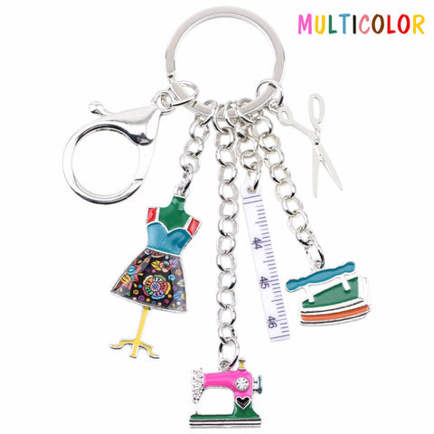 Cute Sewing Tools Keychain