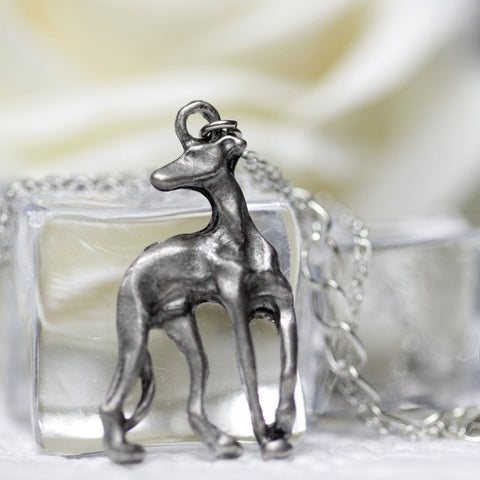 Cute Greyhound Necklace