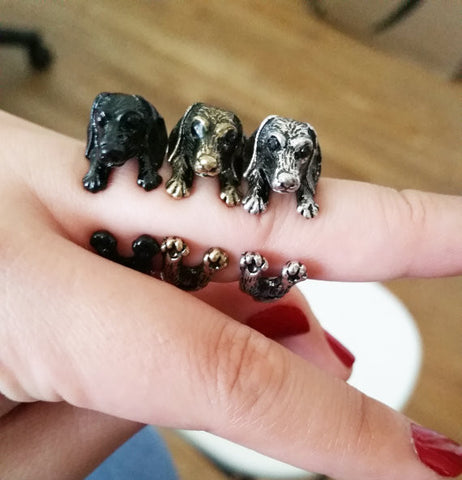 Cute Dachshund Ring