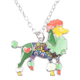Beautiful Poodle Color Necklace