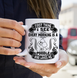 A Poodle who loves me mug
