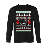 Dachshund Through the Snow Christmas Ugly Sweater