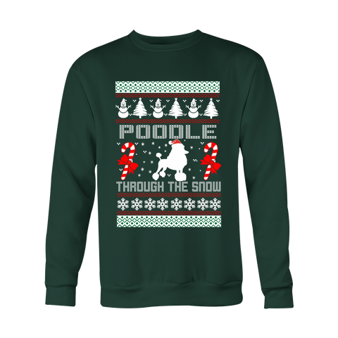 Poodle Through the Snow Christmas Ugly Sweater