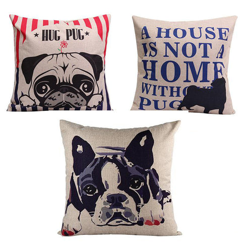 PUG lovely Throw Pillow Cases