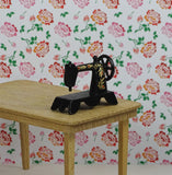 Black Miniature Sewing Machine