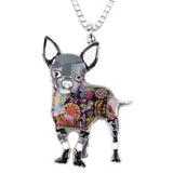 Cute Chihuahua Multicolor Necklace