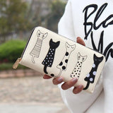 Vegan Leather Cat Wallet / Clutch