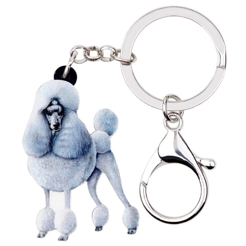 Cute Poodle Keychain