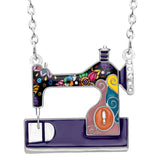 Cute Sewing Machine Multicolor Necklace