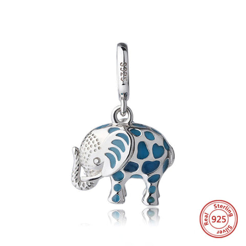 Sterling Silver Glowing Elephant Charm
