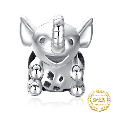 Adorable Sterling Silver Elephant Charm