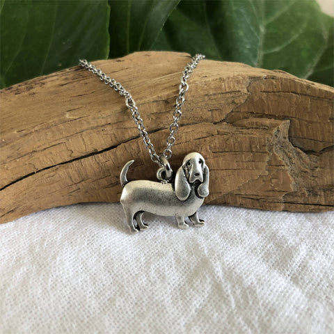 Adorable Basset Hound Necklace