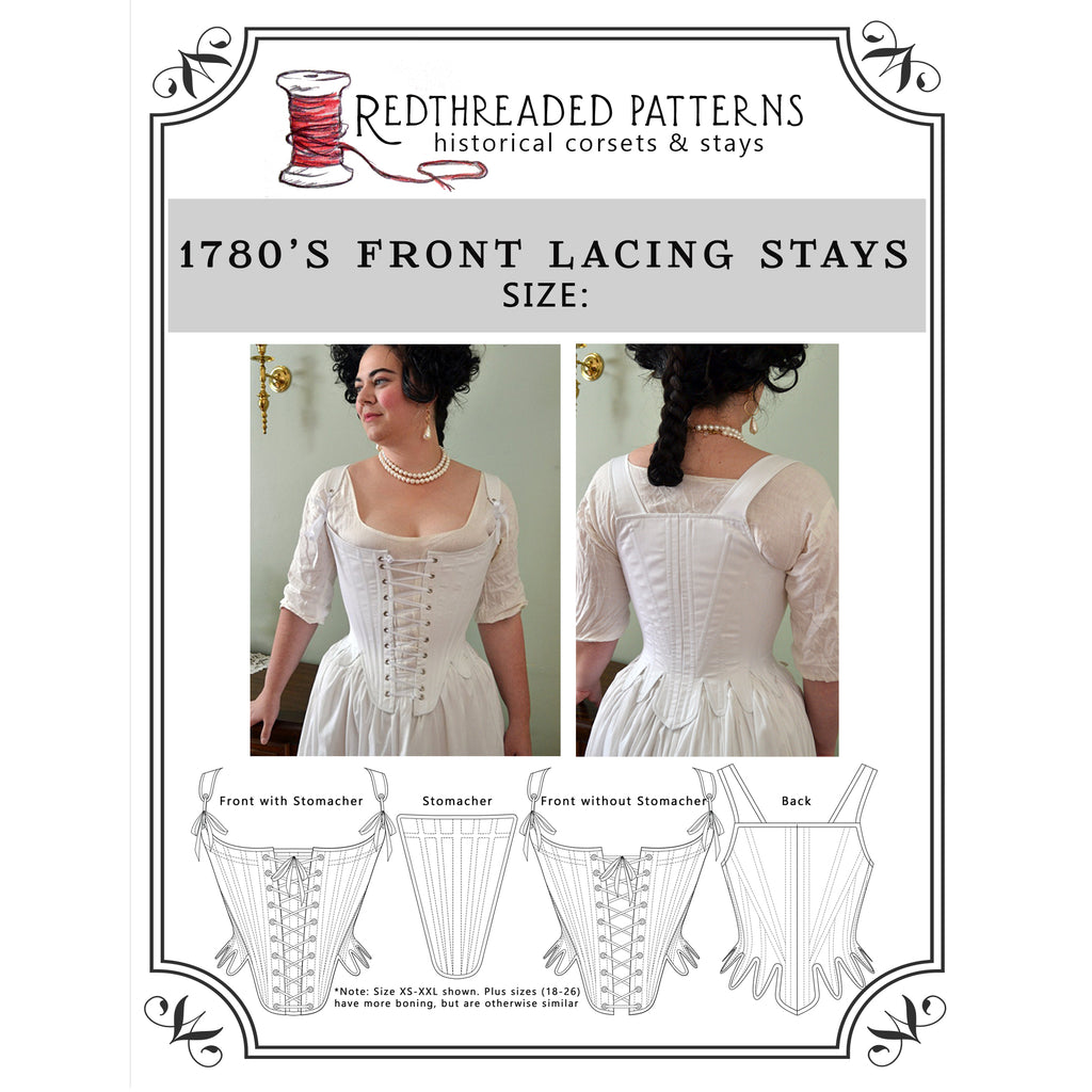 NEW PATTERN: 1780's Front Lacing Stays
