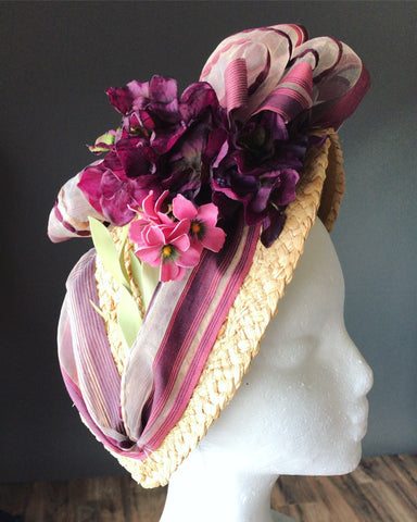 Making a Victorian Bonnet from a Thrift Store Hat
