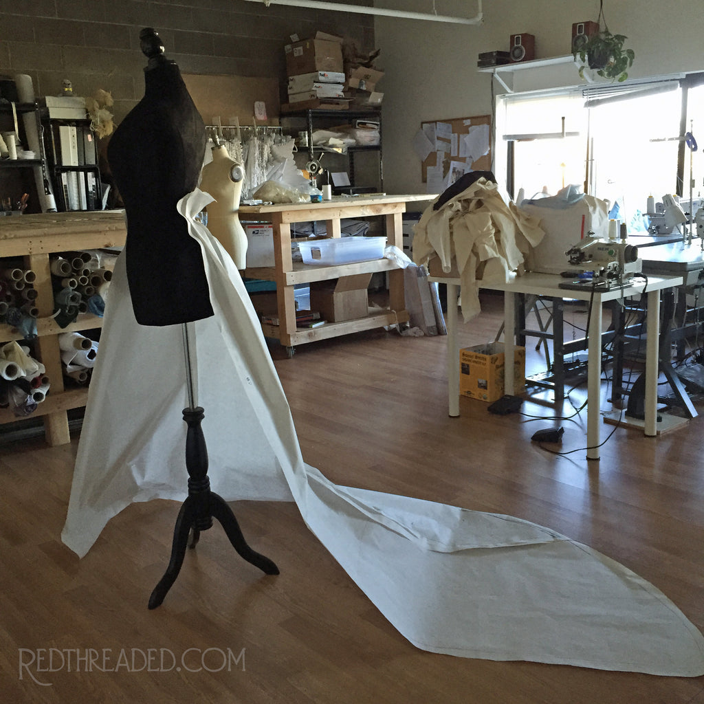 The Making of the Ironwork Gown Pt. 2 - Digitizing & Patterning