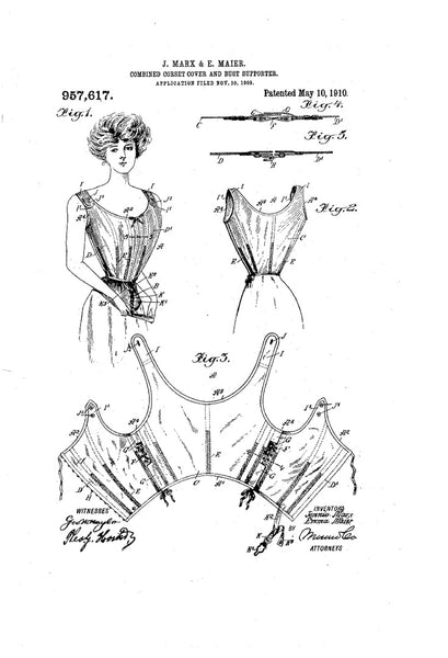 1910 Combined Corset Cover and Bust Supporter