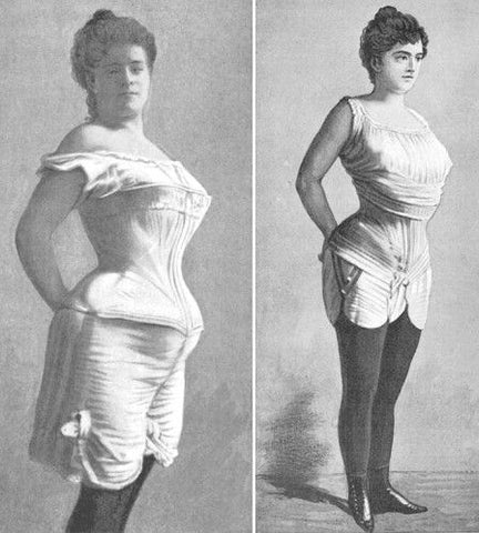 """1900 illustration depicting the """"new"""" s-curve corset."""