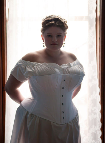 Plus Size S-Bend 1900's Edwardian Gibson Girl Corset