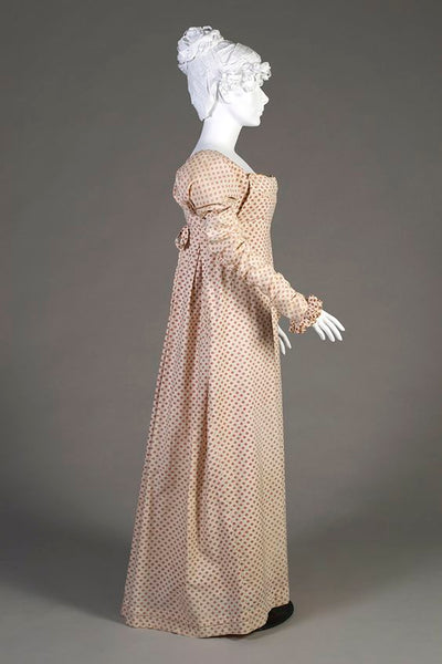 Kent State Museum, Cotton Print Dress 1808-1812