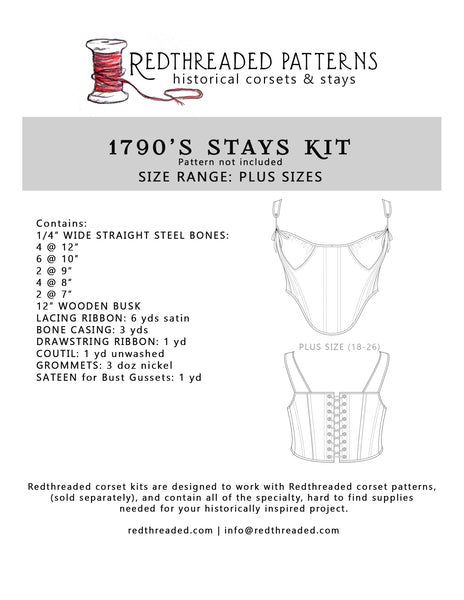 1790's Stays Supply Kit