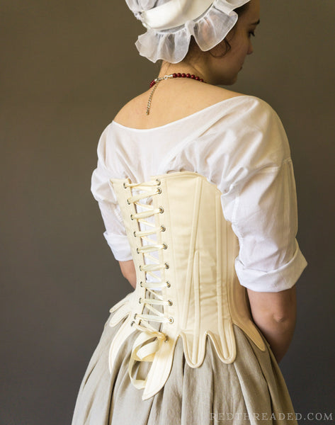 1750's-1770's Strapless Stays -- Synthetic Whalebone - Custom Sized Made to Order