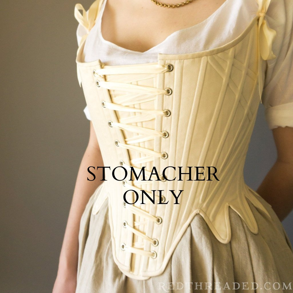 FIT SAMPLE SALE Stomacher for 1780's stays - SYNTHETIC WHALEBONE