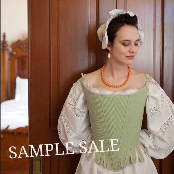 SAMPLE SALE Theresa Stays - 1690's size M