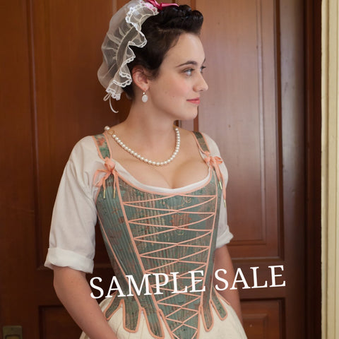 SAMPLE SALE Jeanne Stays - 1750's  Size M