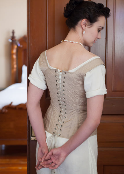 SAMPLE SALE Charlotte Stays - 1830's DAR Reproduction Size M