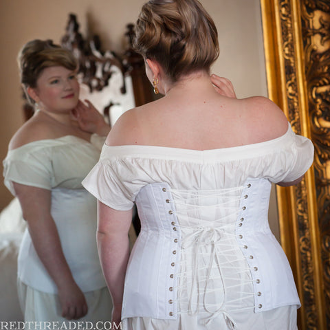 Underbust Edwardian Corset -- Custom Sized Made to Order