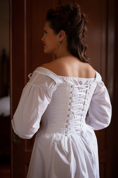 18th Century Georgian Stays -- Ready to Ship in Standard & Plus Sizing