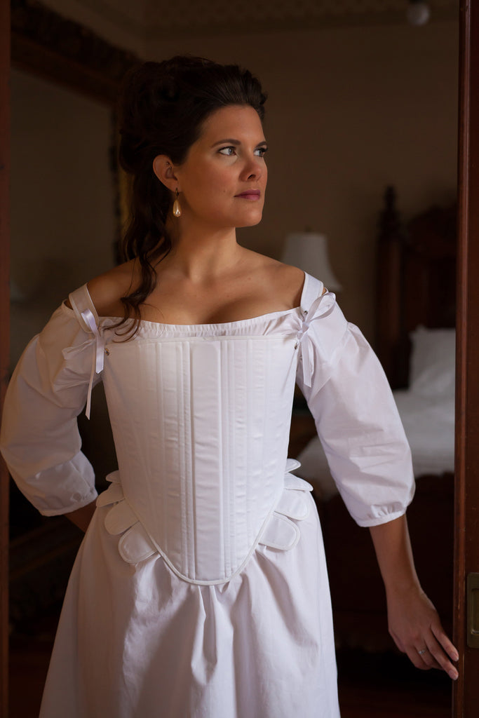 16th Century Tudor Stays -- Ready to Ship Corset in Standard & Plus Sizing