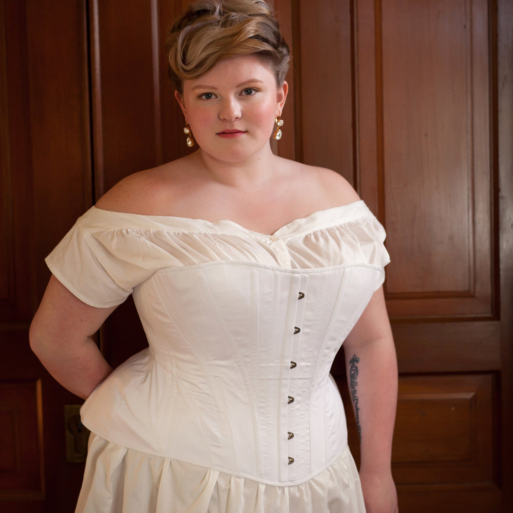 Edwardian S-Bend Corset  -- Custom Sized Made to Order