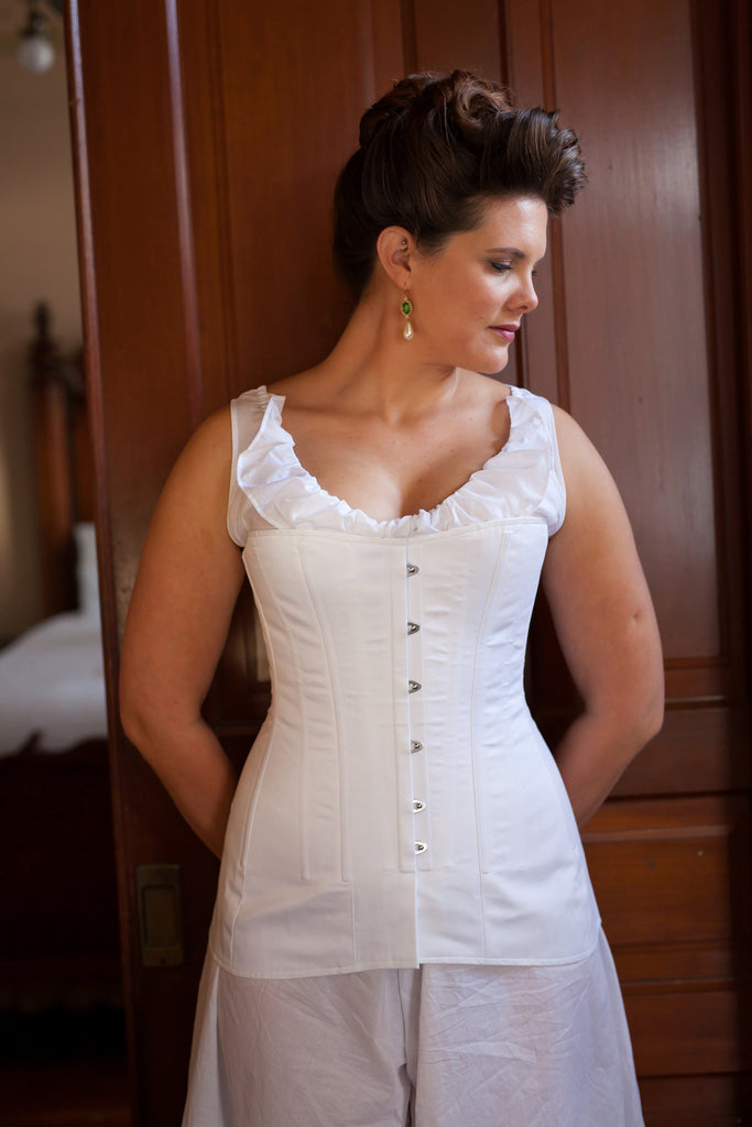 FIT SAMPLE SALE 1910's Mid-Bust Titanic Corsets